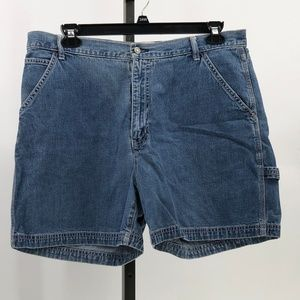 Gap carpenter jean shorts womens sz 16